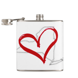New York Strong Hip Flask
