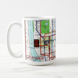 New York Subway Map 15 oz Classic White Mug