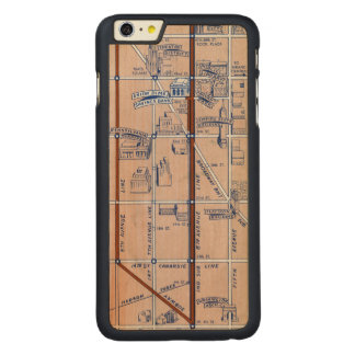 NEW YORK SUBWAY MAP, 1940 2 CARVED® MAPLE iPhone 6 PLUS CASE