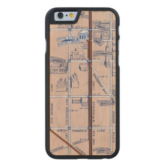NEW YORK SUBWAY MAP, 1940 2 CARVED® MAPLE iPhone 6 SLIM CASE