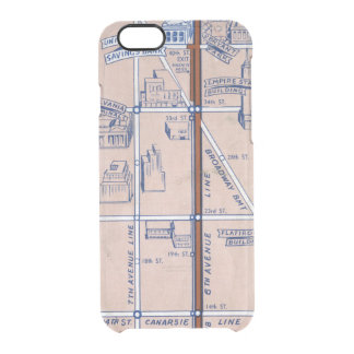 NEW YORK SUBWAY MAP, 1940 2 CLEAR iPhone 6/6S CASE
