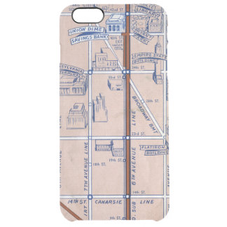NEW YORK SUBWAY MAP, 1940 2 CLEAR iPhone 6 PLUS CASE