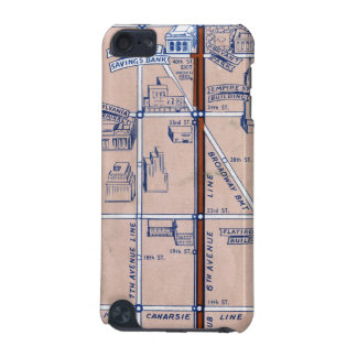 NEW YORK SUBWAY MAP, 1940 2 iPod TOUCH (5TH GENERATION) CASES