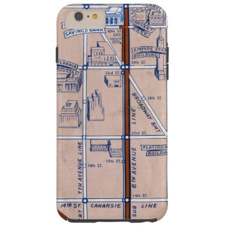NEW YORK SUBWAY MAP, 1940 2 TOUGH iPhone 6 PLUS CASE