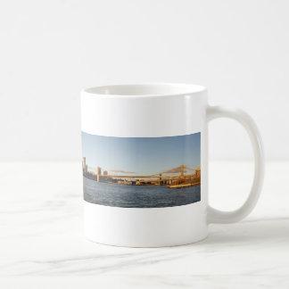 New York Sykline with Brooklyn Bridge Coffee Mug