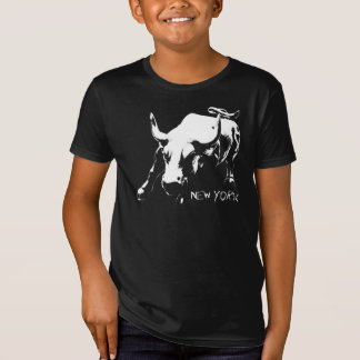 New York T-Shirt Kid's Bull Statue Organic Shirt