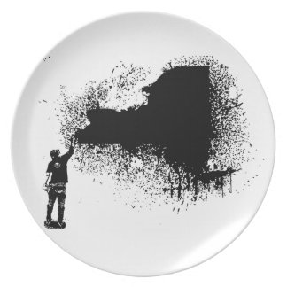 New York Tagger Party Plate