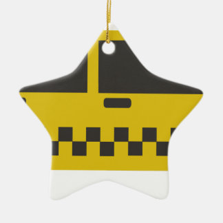 New York Taxi Cab Ceramic Ornament