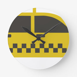 New York Taxi Cab Round Clock