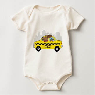 New York Taxi Dog Baby Bodysuit