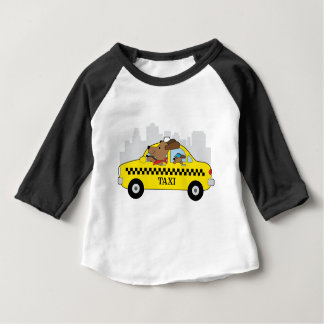 New York Taxi Dog Baby T-Shirt