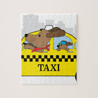 New York Taxi Dog Jigsaw Puzzle
