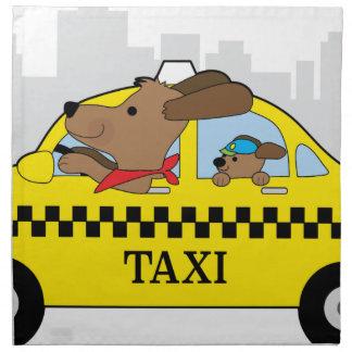New York Taxi Dog Napkin