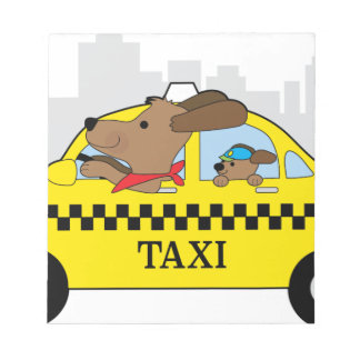 New York Taxi Dog Notepad