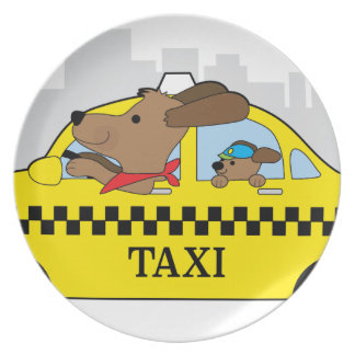 New York Taxi Dog Plate