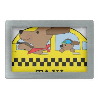 New York Taxi Dog Rectangular Belt Buckle