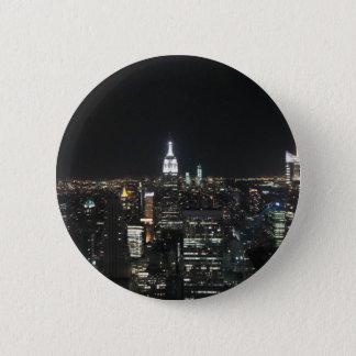New York The Big Apple Manhattan at Night Gift 2 Inch Round Button