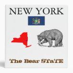 New York: The Black Bear STaTE 3 Ring Binders