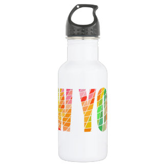 New York, the Colorful City 532 Ml Water Bottle