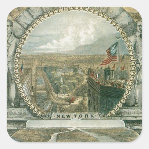 New York The Empire City Stickers