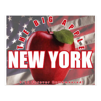 New York The Red Apple - 9/11 Forever Remembered! Postcard