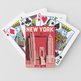 New York The to wonder City Bicycle Playing Cards