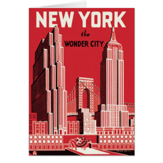 New York The to wonder City Card