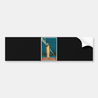 New York: The Wonder City of the World Poster Bumper Sticker