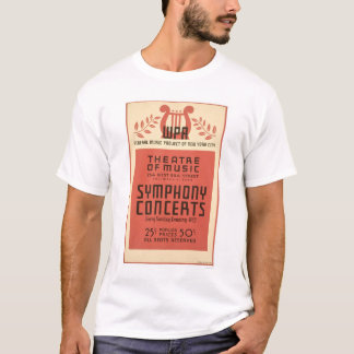 New York Theatre Music 1940 WPA T-Shirt