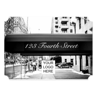 New York themed Corporate Function Retro Ticket Card