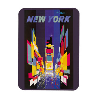 New York Times Square by night abstract Rectangular Photo Magnet