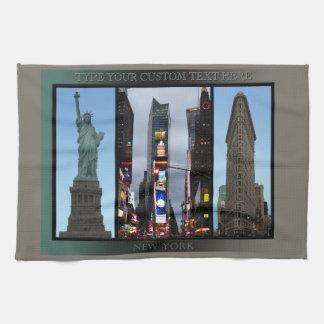 New York Towel Personalized NYC Landmark Tea Towel