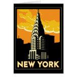 new york united states usa vintage retro travel greeting card