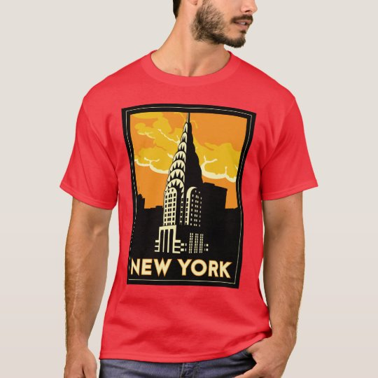 new york united states usa vintage retro travel T-Shirt