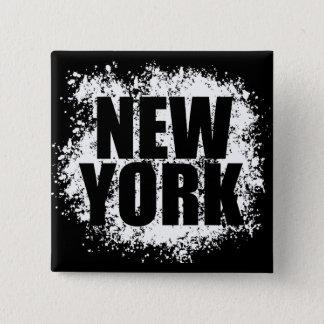 New York Urban Graffiti 2 Inch Square Button