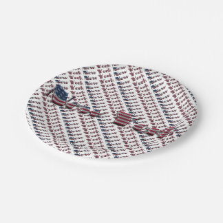 New York USA Country Flag Typography Paper Plate
