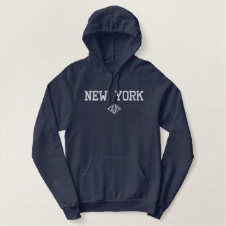 New York USA Embroidered Hoodie