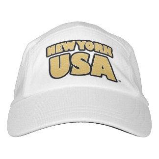 New York USA Gold Words Performance Hat