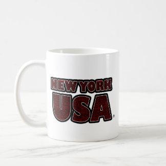 New York USA Red-Words Mug