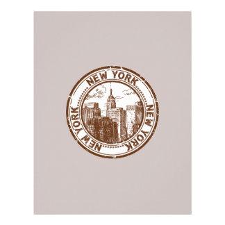 New York, USA Travel Stamp Letterhead