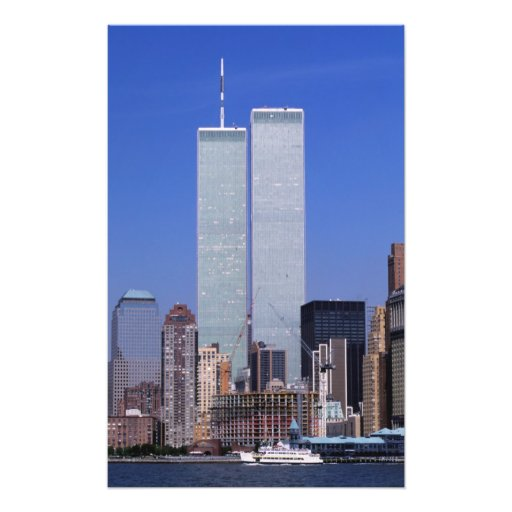 New York, USA. Twin towers of the famous World Photo Print