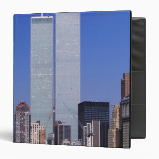 New York, USA. Twin towers of the famous World Vinyl Binder