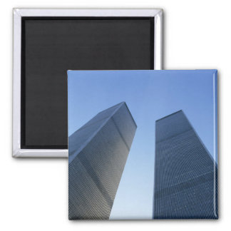 New York, USA. View up at twin towers of the Square Magnet
