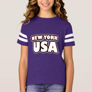 New York USA White-Worded Kids T-Shirt