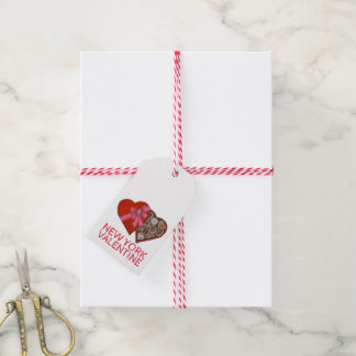New York Valentine NYC Chocolate Heart Gift Tags