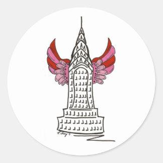 New York Valentine NYC Skyscraper Cupid Stickers