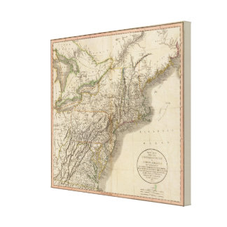 New York, Vermont, New Hampshire, etc Canvas Print