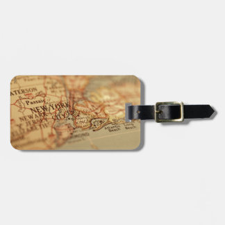 NEW YORK Vintage Map Luggage Tag