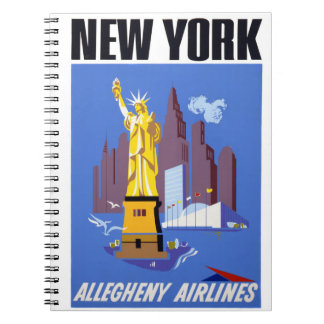 New York Vintage Travel Poster Notebook