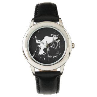 New York Watch New York Bull Souvenir Wristwatch